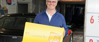 Enk Superwasch, Andreas Frieg, ist Partner der Ehrenamtskarte in Bocholt